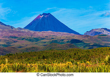 Magnificent volcanic massif - Ngauruhoe - the youngest...