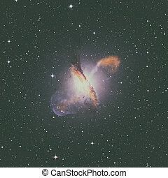 NGC5128 is a lenticular galaxy in the constellation of Centaurus