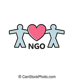 NGO (Non-Governmental Organization) icon - vector illustration
