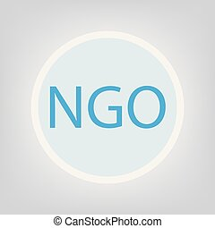 NGO (Non-Governmental Organization)- vector illustration