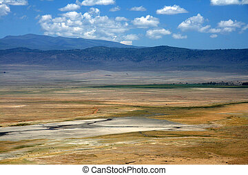 Ngorongoro Crater, Tanzania, Africa - Ngorongoro Crater,...