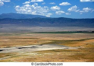 ngorongoro krater, tansania, afrikas