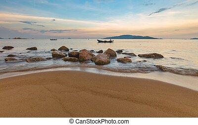 Nha Trang Bay Evening Sky Vietnam