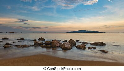 Nha Trang Bay Evening Sky Vietnam - Looking out over the...