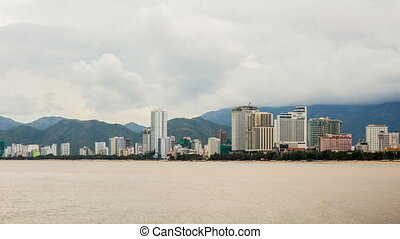 Nha Trang city. Vietnam. Timelapse