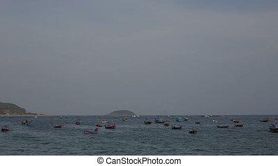 Nha-Trang resort city on seacoast in Vietnam