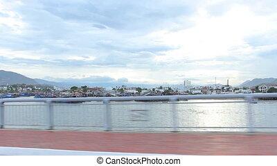 Nha Trang, Vietnam July 10, 2014: Drive. Bay. Asia.