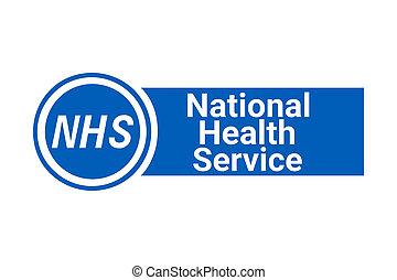 NHS, national health service sign