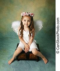 niña, ángel