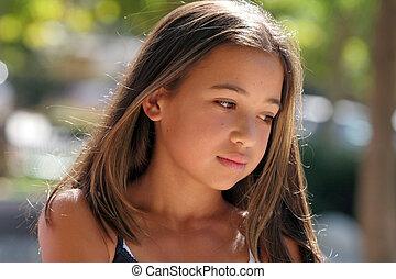 niña, asiático