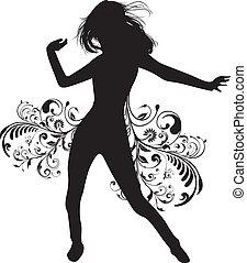niña, bailando
