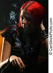 niña, fumar