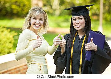 niña, graduación