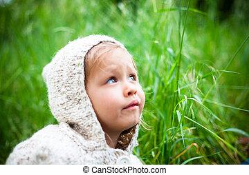 niña, naturaleza