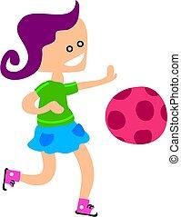 niña, pelota