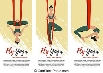niña, yoga, llevando, mosca, hermoso, sportwear