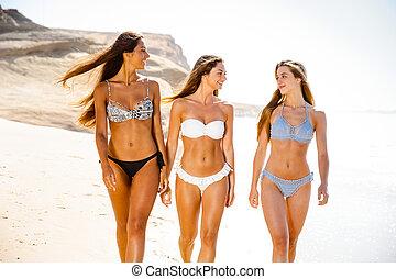 niñas hermosas, playa