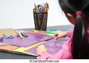 niñez, dibujo
