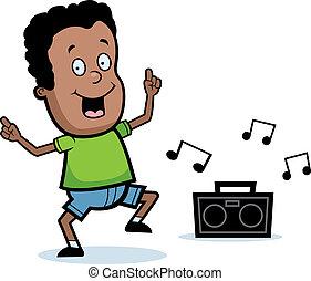 niño, bailando