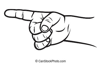 niño, dedo, indicador