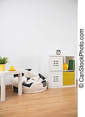 niño, diseño, adolescente, habitación