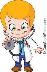 niño, doctor