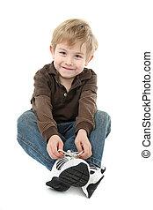 niño, el suyo, shoes, atar