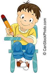 niño, escritura