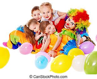 niño, fiesta de cumpleaños, .