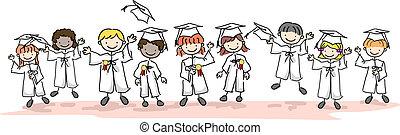 niño, graduados