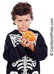 niño, halloween