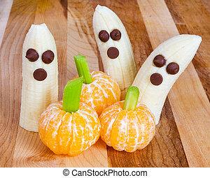 niño, halloween, gustos, amistoso