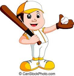 niño, jugador béisbol