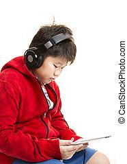niño, música