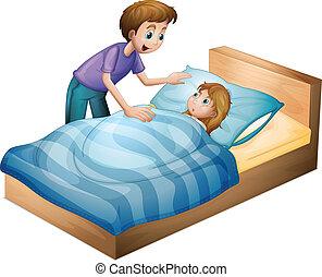 niño, niña, sueño