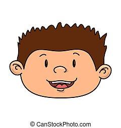 niño, niño, caricatura