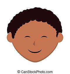niño, niño, niño, sonriente