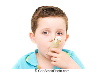 niño, poco, el suyo, asma, bomba, utilizar