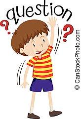 niño, poco, preguntar, pregunta