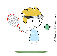 niño, tenis
