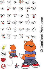 niño, zorro, cartoon9