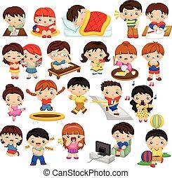 niños, actividad