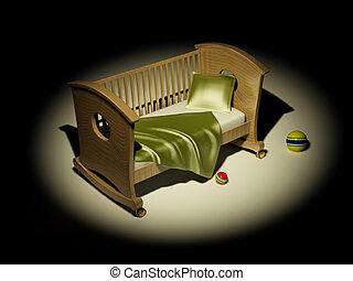 niños, cama