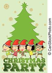 niños, canto, navidad, canciones