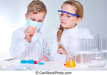niños, científicos