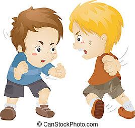 niños, lucha