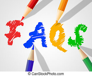 niños, palabra, faqs, indica, preguntas, frequently,...