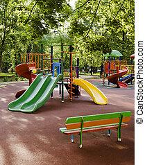 niños, patio de recreo