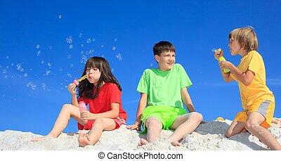 niños, perder burbujas