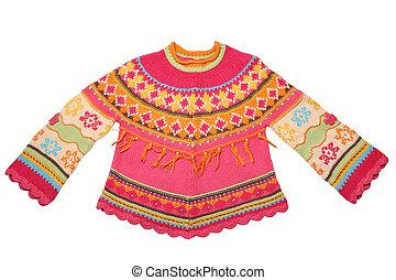 niños, suéter, -, uso